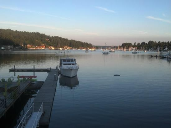 The incredible view of peaceful Gig Harbor from the Waterfront Inn
