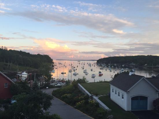Rockport, ME: Sunset from the terrace