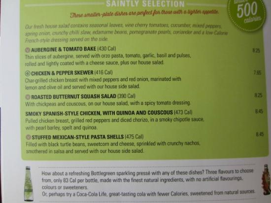 Buffet Menu Slug And Lettuce Restaurant