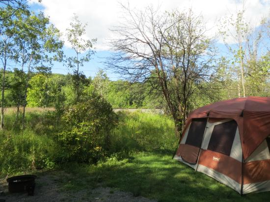 Watkins Glen-Corning KOA Camping Resort: There are about 6 tent sites... all along the road