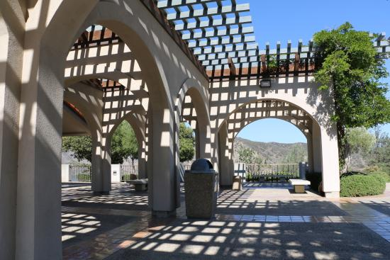 Gorman, CA: Shady Patio in Front of Visitor Center
