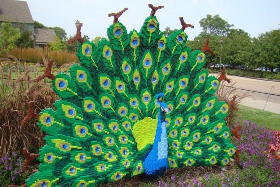 Minnesota Landscape Arboretum: Peacock in Legos