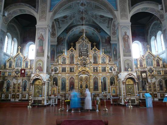 Kropotkin, Russie : Интерьер с иконостасам Покровского собора