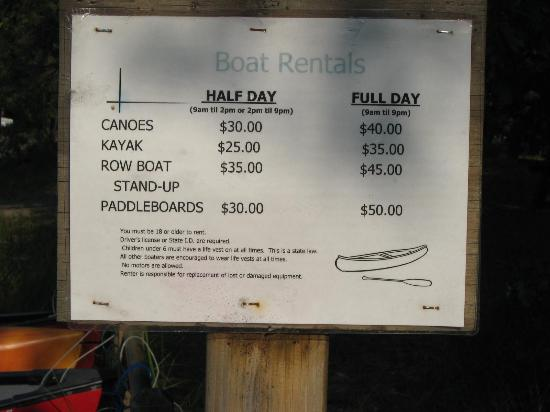 Clear Lake State Park: Prices