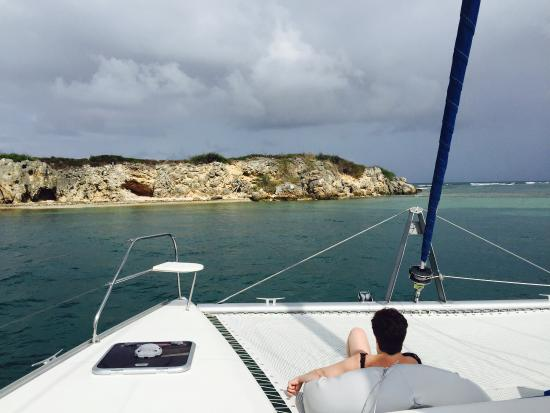 Oyster Pond, St. Maarten: A glorious day aboard the Seaduction.