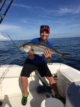 Fun time on the water even catching an amberjack for Inshore fishing destin fl
