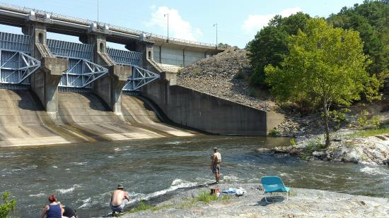 The spillway at broken bow lake picture of broken bow for Broken bow lake fishing report