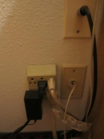 Ramada Richland Center: Overloaded Socket