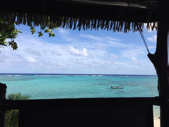 Rapae Bay Restaurant at Pacific Resort Aitutaki: The Rapae Bay Restaurant view.
