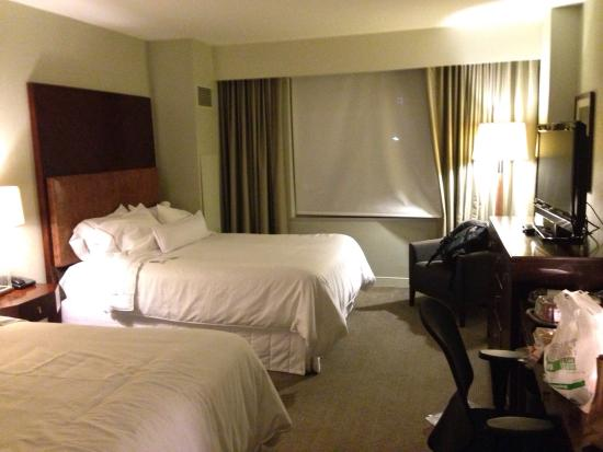 Westin Reston Heights: The bedroom is pretty nice and the price is reasonable.