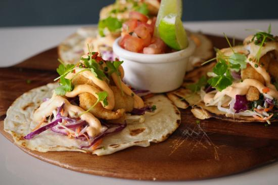 e74789e19c81c The George Tavern  Whiting Fillet Tortillas served with shredded Asian slaw  topped with spicy aioli
