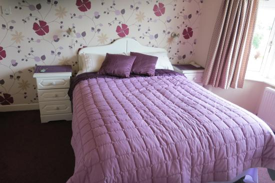 Ardlenagh View: My comfortable amethyst colored room.