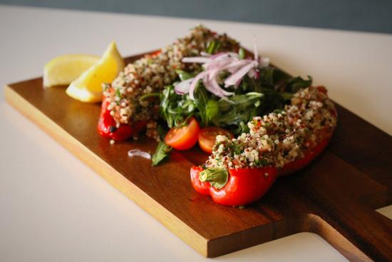87453039f5edd The George Tavern  Bull Horn Pepper stuffed with Spicy beef mince   quinoa  tabouli served
