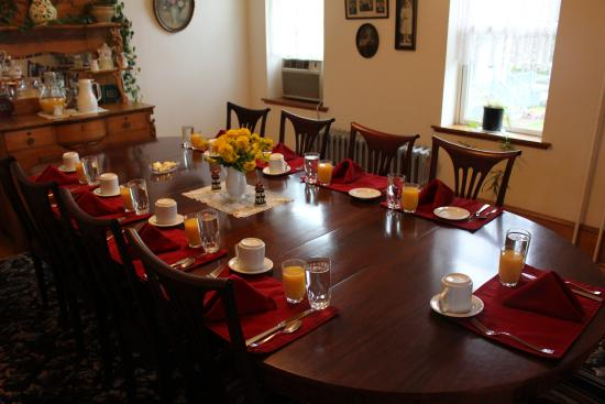 Dining Room place setting for breakfast