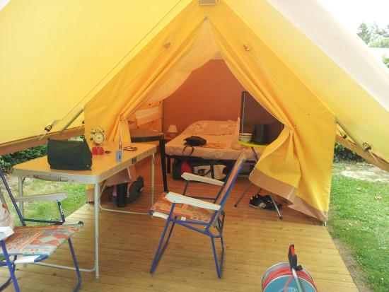 Camping Les Peupliers: notre logement un treck