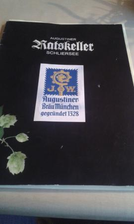 Augustiner Ratskeller Schliersee: menu