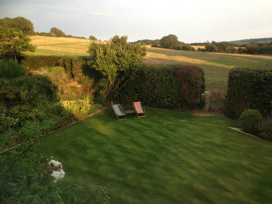 Challow Farm House Bed and Breakfast: View from the South Room