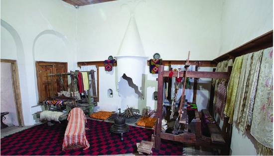 Berat County, Albania: National Ethnigraphic Museum, Berat Albania . The loom room