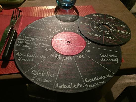 Bien connu La Carte originale du restaurant, façon disque vinyle. - Picture  ED93