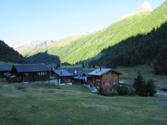 Schwarzhorn Hotel : morning view form room up the valley