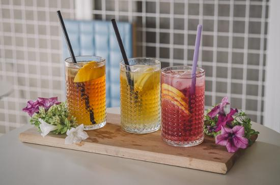 Aroma Gelato Experience: selection of natural ice teas - Les jardins de Gaia - Ginger Lemon Rooibos, Hibiscus, Yunnan Fop