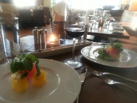 1808 Grille: Watermelon salad.