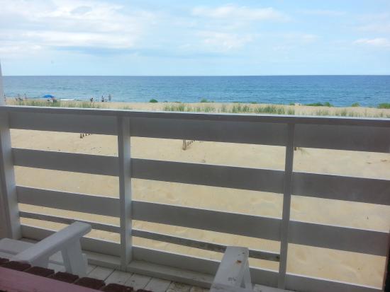 Sea Foam Motel: ocean front deck