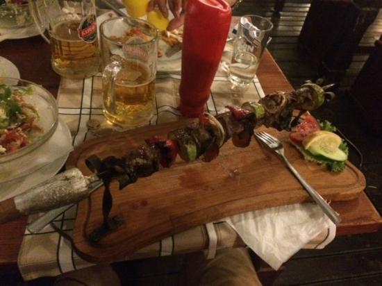 Colonel Steak House: Lamb skewer