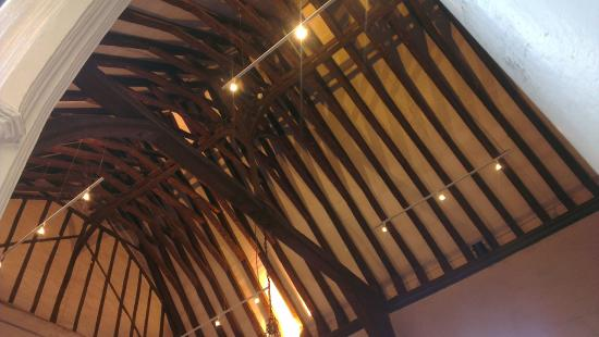 The Dining Rooms at Cinema City: Take a look at the historic roof !