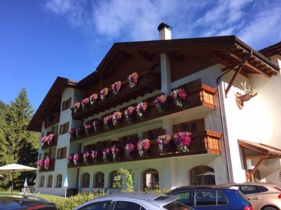 Hotel Jagdhof: La Facciata e il Prato sottostante al ns. balcone