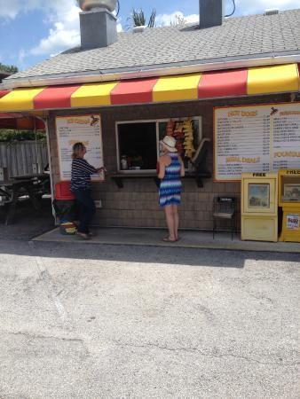 Hazel's Hot Dogs: Hazels Hotdog Stand, order window