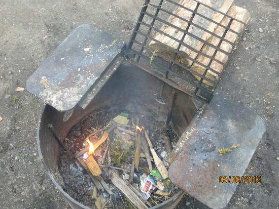 Whistlers Campground: fire pit...