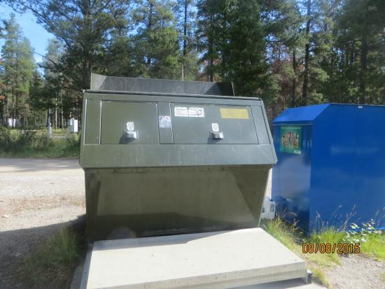 Whistlers Campground: bear proof bins