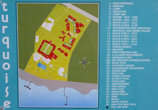 map of the hotel Picture of Turquoise Resort Hotel Spa Side