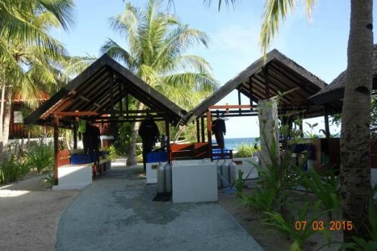 Wakatobi Dive Resort: Ample space to hang gear and store dive stuff