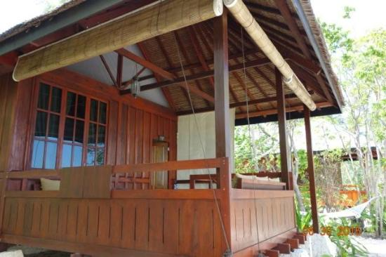 Wakatobi Dive Resort: Front of our ocean-front bungalow (Room 23).  Notice roomy veranda