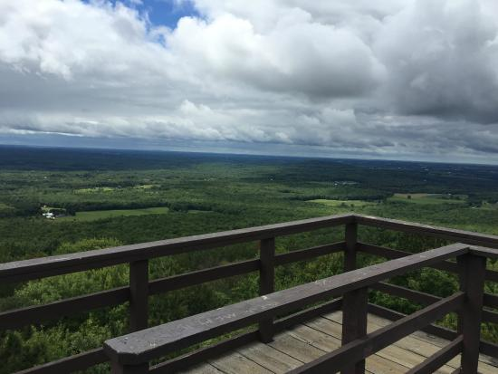 Rib Mountain State Park: View to the southwest from top of lookout tower!
