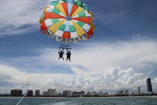 South Beach Parasail Skyline View Miami