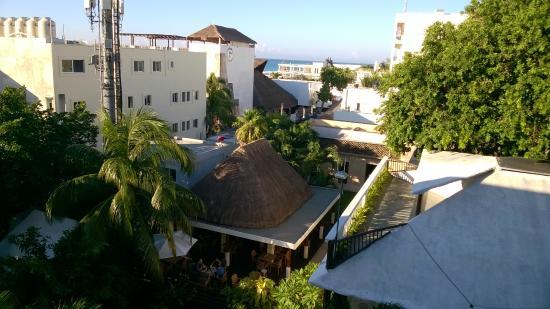 Hotel Posada Sian Ka'an: Partial sea view