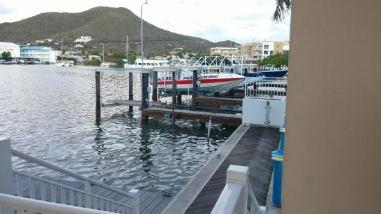 Simpson Bay, St. Maarten-St. Martin: Carousel Gelataria and Cafe view