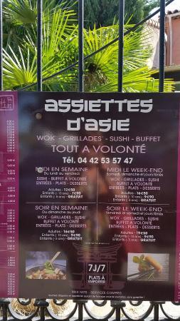 Rousset, France: Assiette D'Asie