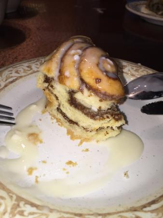 Another Broken Egg : Monster Cinnamon Roll With cream cheese icing