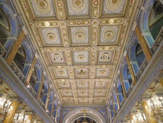 Ceiling of Church - Picture of St. Esprit Cathedral ...