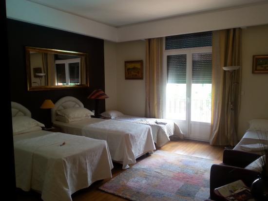 Villa Danieli : la chambre coté lits