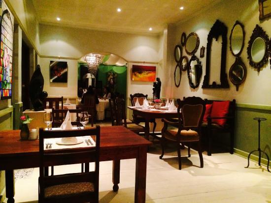 Amanzi Restaurant: one of the many dining area's at Amanzi's in Harare, Zimbabwe