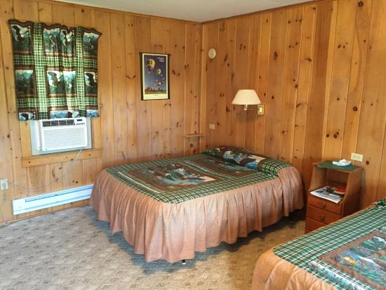 Pine Tree Motel & Cabins: Clean, cute motel room with woodsy decor.