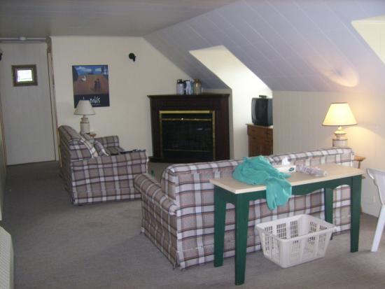 Auberge La Porte Rouge: Salon avec 2 divans lits