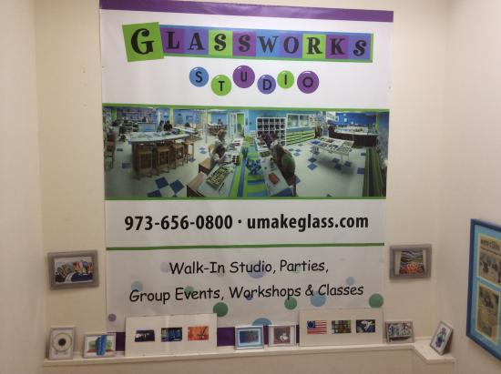 Glassworks Studio: Glassworks sign outside of door