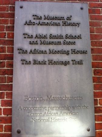 Museum of African American History: Plaque