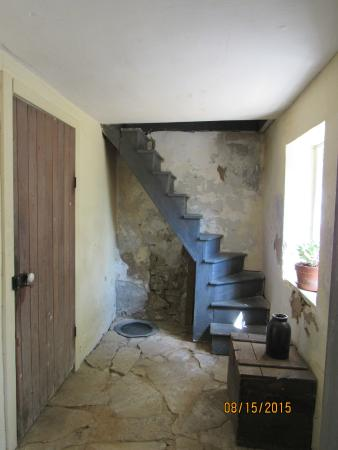 Deutschheim State Historic Site: Stairs to food cellar